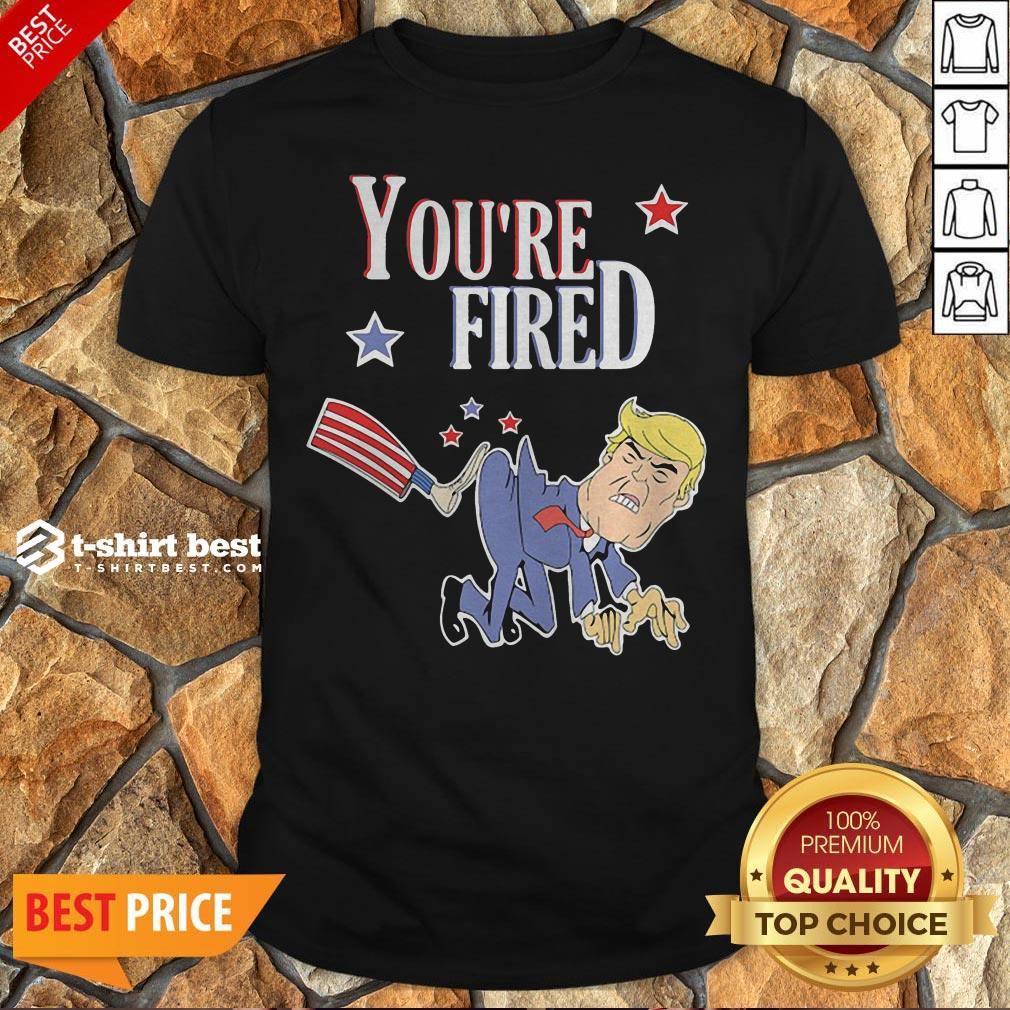Top You're Fired Donald Trump American Flag Shirt