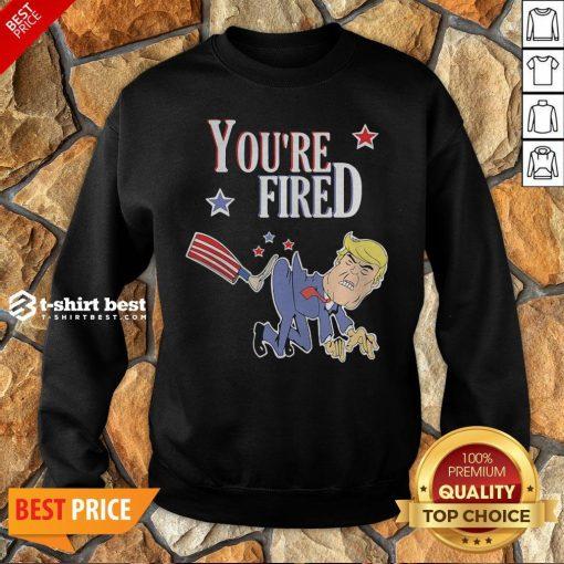 Top You're Fired Donald Trump American Flag Sweatshirt