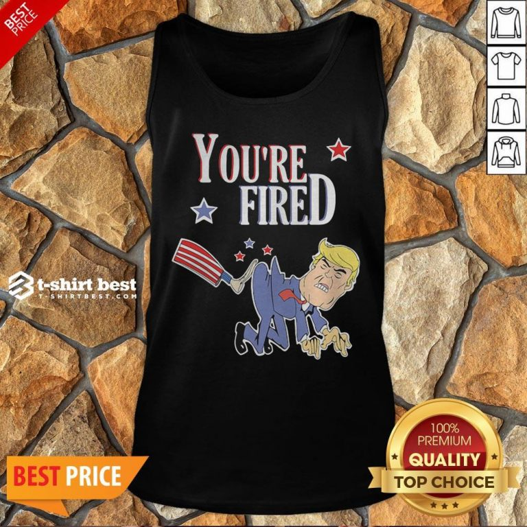Top You're Fired Donald Trump American Flag Tank Top