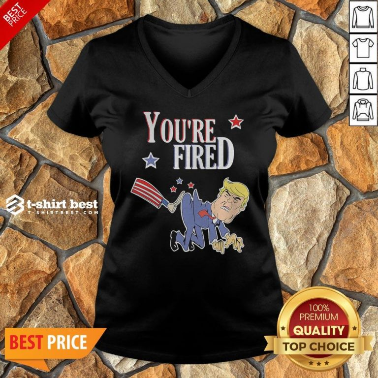 Top You're Fired Donald Trump American Flag V-neck