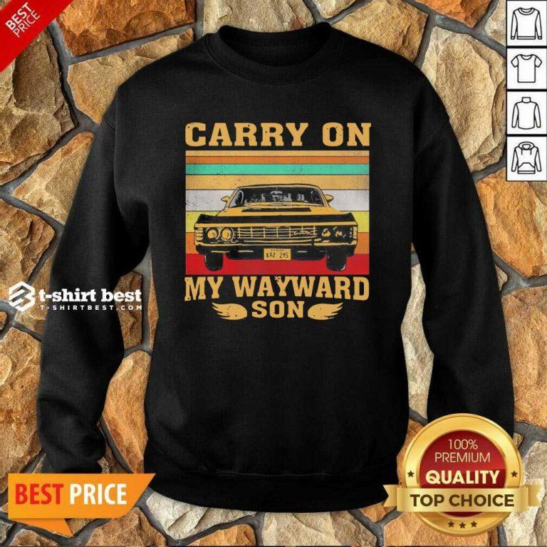 Carryon My Wayward Son Vintage Sweatshirt - Design By 1tees.com