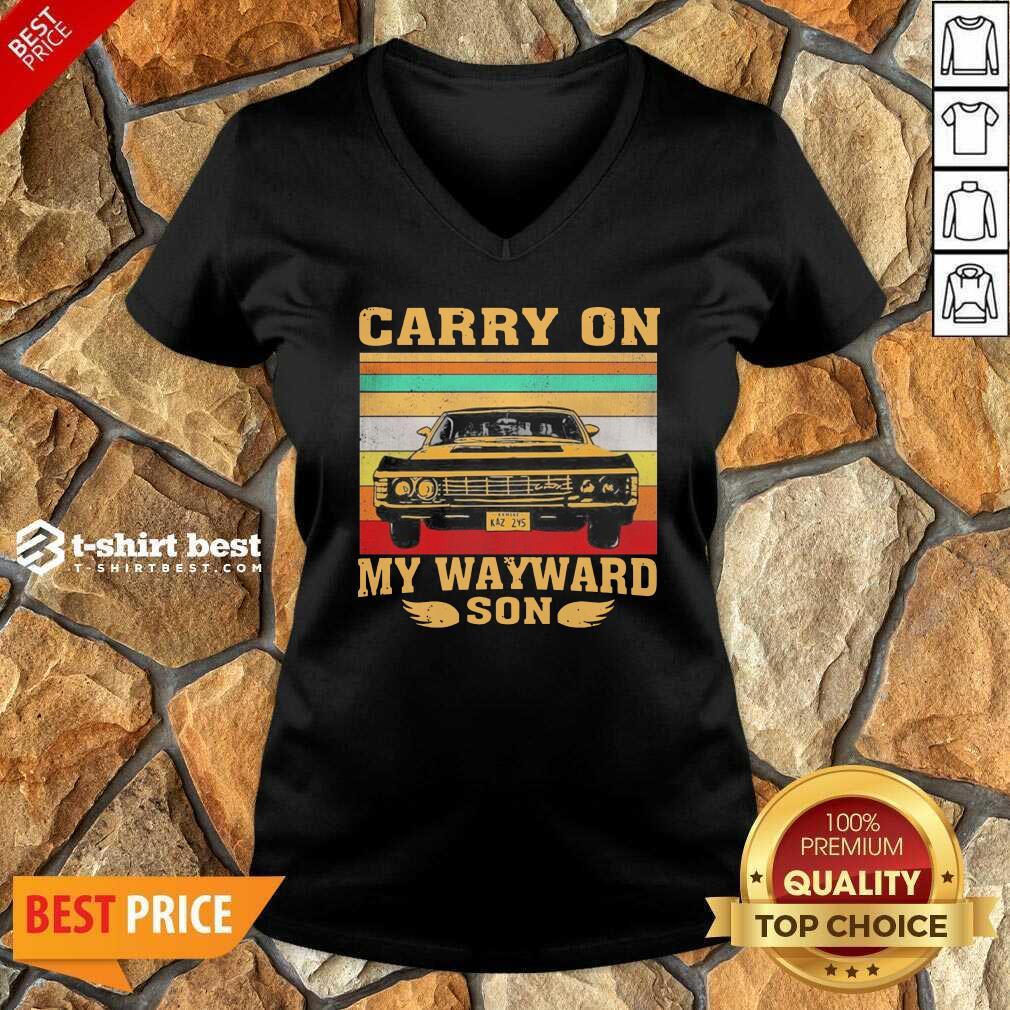 Carryon My Wayward Son Vintage V-neck - Design By 1tees.com
