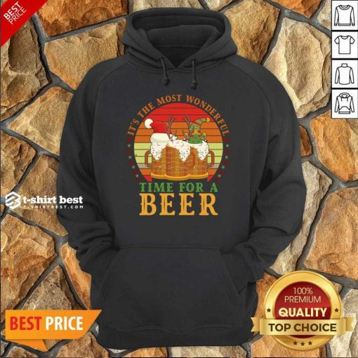 It's The Most Wonderful Time For A Beer Hoodie - Design By 1tees.com