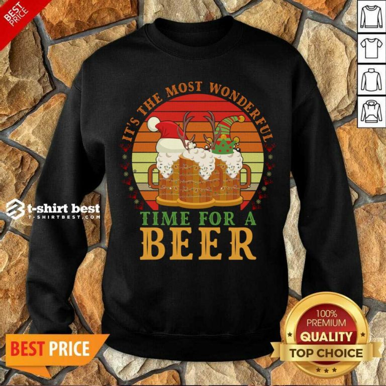 It's The Most Wonderful Time For A Beer Sweatshirt - Design By 1tees.com