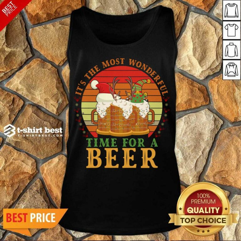 It's The Most Wonderful Time For A Beer Tank Top - Design By 1tees.com