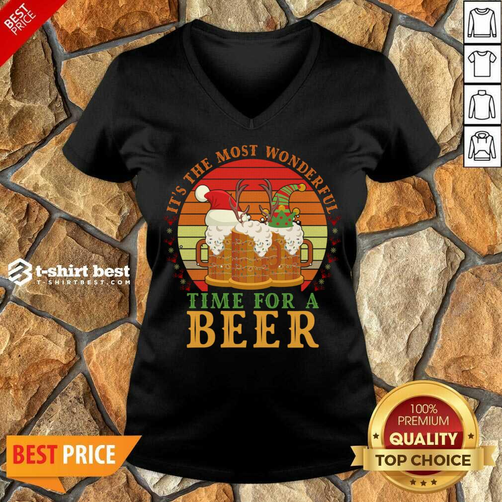 It's The Most Wonderful Time For A Beer V-neck - Design By 1tees.com