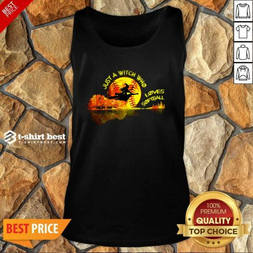Just A Witch Who Loves Softball Tank Top - Design By 1tees.com