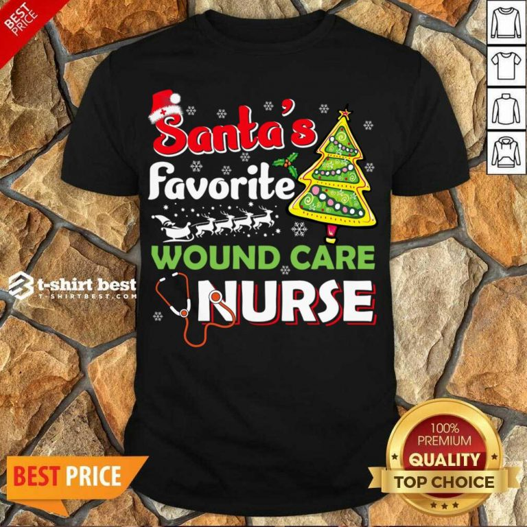 Awesome Santa's Favorite Wound Care Nurse - Christmas Shirt - Design By 1tees.com