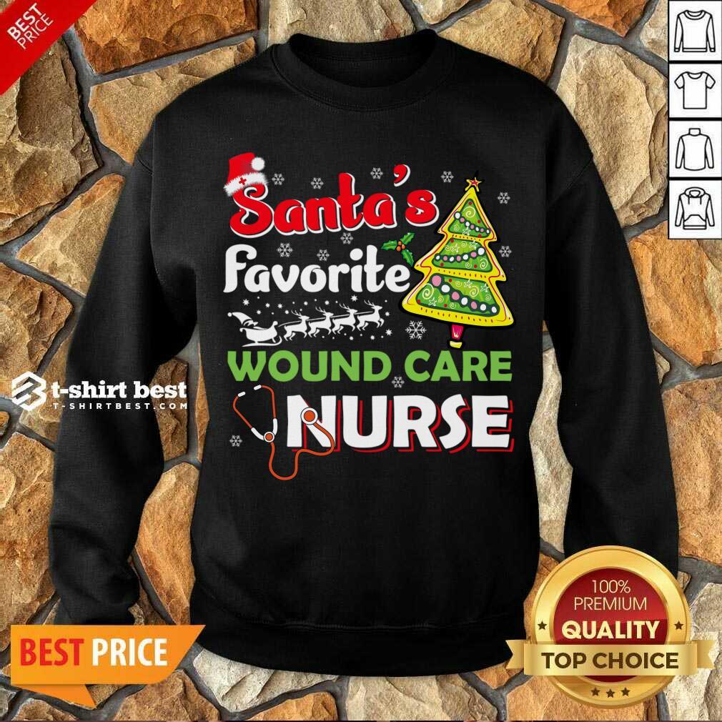 Santa's Favorite Wound Care Nurse - Christmas Sweatshirt - Design By 1tees.com