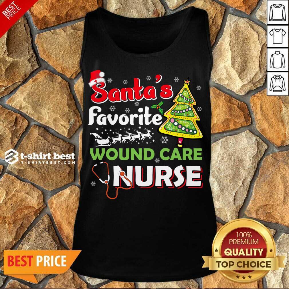 Santa's Favorite Wound Care Nurse - Christmas Tank Top - Design By 1tees.com
