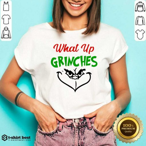 What Up Grinches Christmas V-neck - Design By 1tees.com