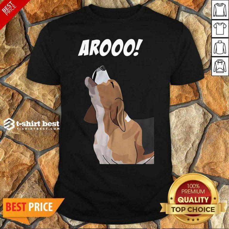 Funny Aroo Beagle Shirt - Design By 1tees.com