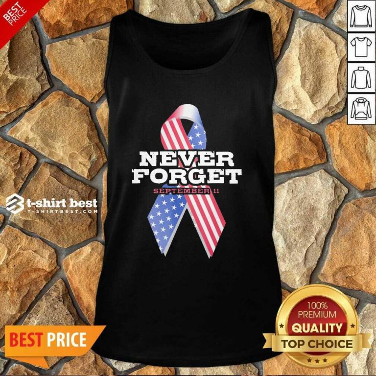 Breast Cancer American Never Forget September 11 Tank Top - Design By 1tees.com