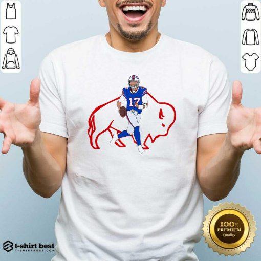 Buffalo Bills 17 Josh Allen Rugby Ball Shirt - Design By 1tees.com