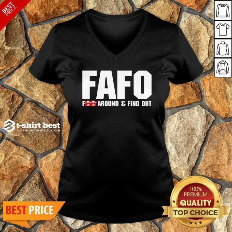 FAFO Fuck Around And Find Out V-neck - Design By 1tees.com