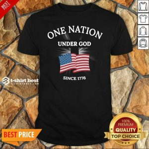 Funny One Nation Under God Since 1776 Shirt - Design By 1tees.com