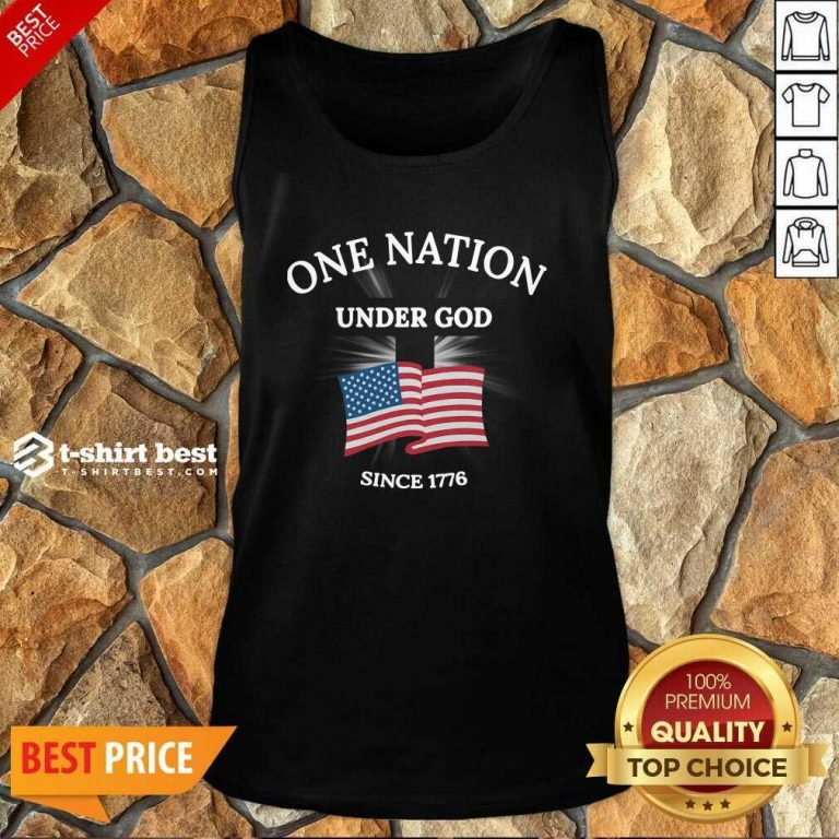 One Nation Under God Since 1776 Tank Top - Design By 1tees.com
