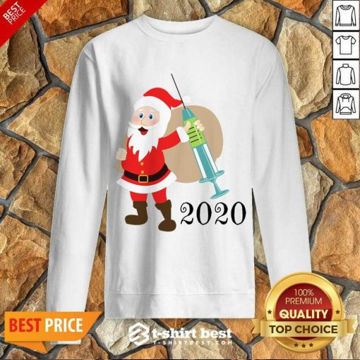Santa 2020 Delivering Vaccine Sweatshirt - Design By 1tees.com