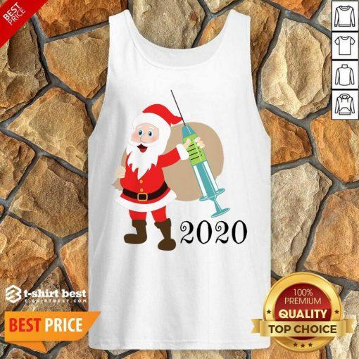 Santa 2020 Delivering Vaccine Tank Top - Design By 1tees.com