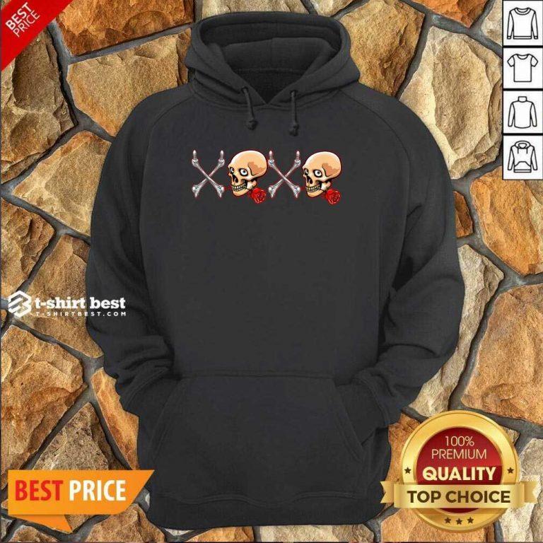 Xoxo Skull Hoodie - Design By 1tees.com