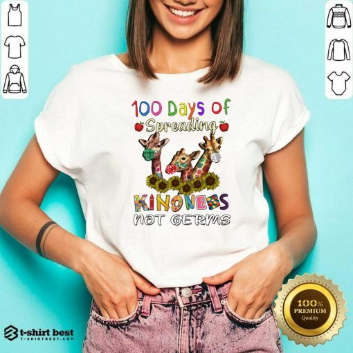 100th Day Of Of Spreading Kindness Not Germs V-neck - Design By 1tees.com