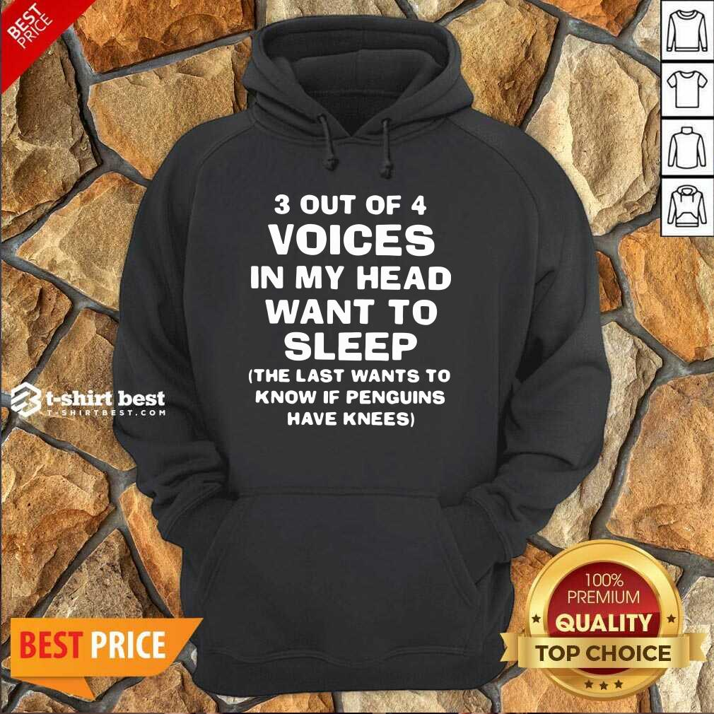3 Out Of 4 Voices In My Head Want To Sleep Hoodie - Design By 1tees.com