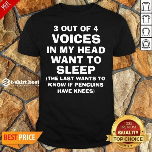 3 Out Of 4 Voices In My Head Want To Sleep Shirt - Design By 1tees.com