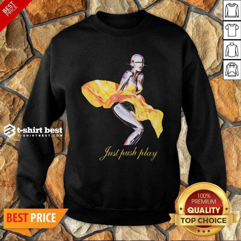 Aerosmith Merch Just Push Play Sweatshirt - Design By 1tees.com