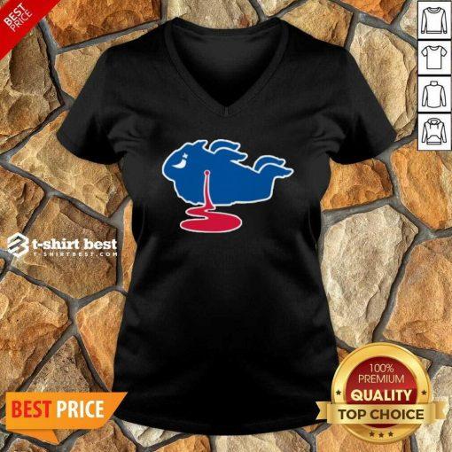 Buffalo Bills Shot Dead Logo V-neck - Design By 1tees.com
