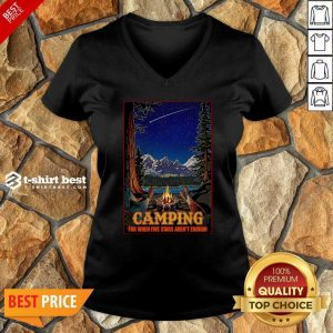 Camping For When 5 Stars Isn't Enough V-neck - Design By 1tees.com