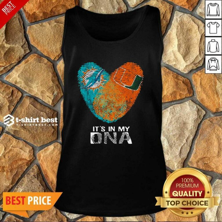 Dolphins Hurricanes It's In My Dna Fingerprints Tank Top - Design By 1tees.com