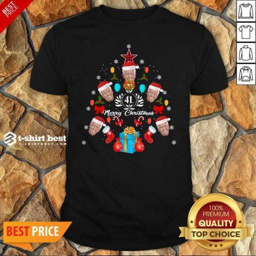 Joe Biden Christmas Tree 41th Merry Christmas Shirt - Design By 1tees.com