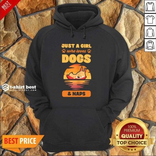 Just A Girl Who Loves Dogs And Naps Hoodie - Design By 1tees.com