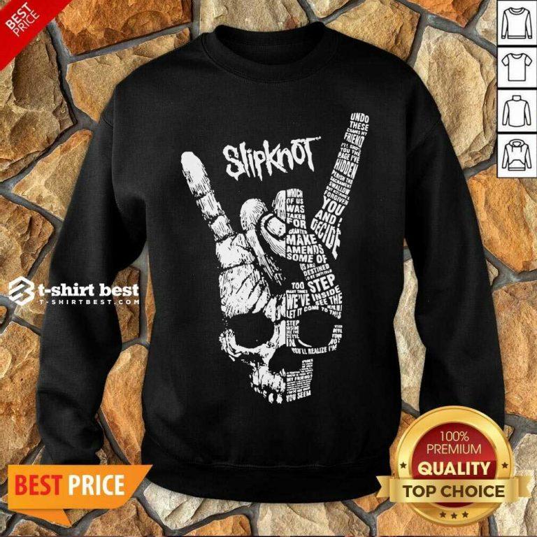 Rock Hand Skull Slipknot Sweatshirt - Design By 1tees.com