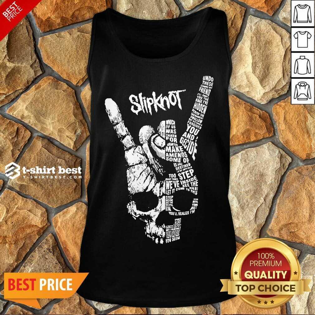 Rock Hand Skull Slipknot Tank Top - Design By 1tees.com