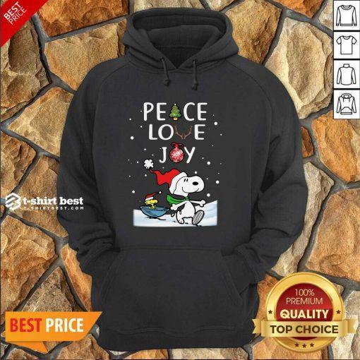 Snoopy Peace Love Joy Christmas Hoodie - Design By 1tees.com
