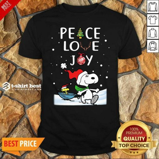 Good Snoopy Peac e Love Joy Christmas Shirt- Design By 1tees.com