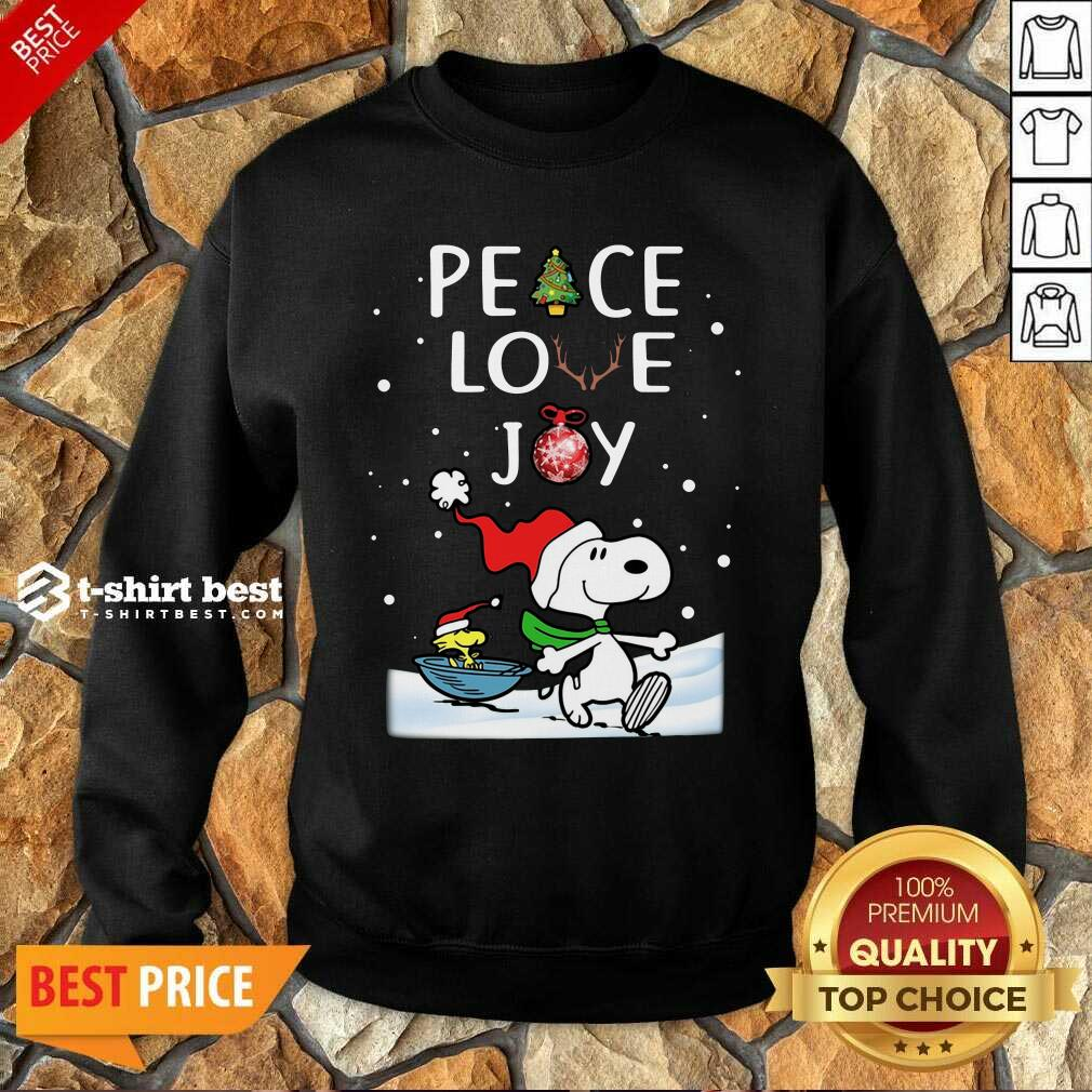 Snoopy Peace Love Joy Christmas Sweatshirt - Design By 1tees.com