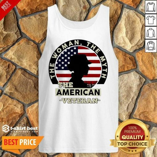 The Woman The Myth The American Veteran Tank Top - Design By 1tees.com