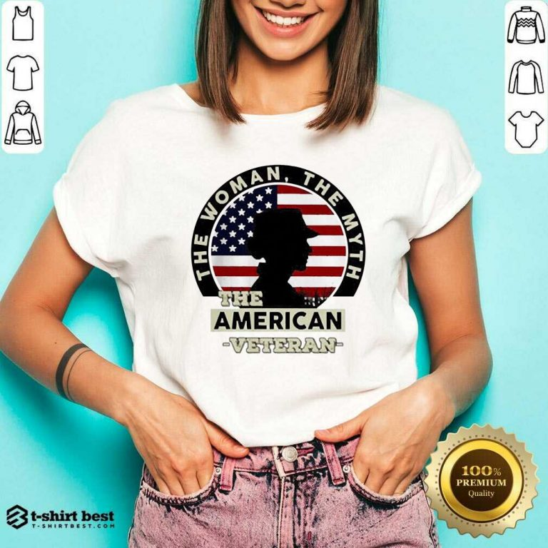 The Woman The Myth The American Veteran V-neck - Design By 1tees.com