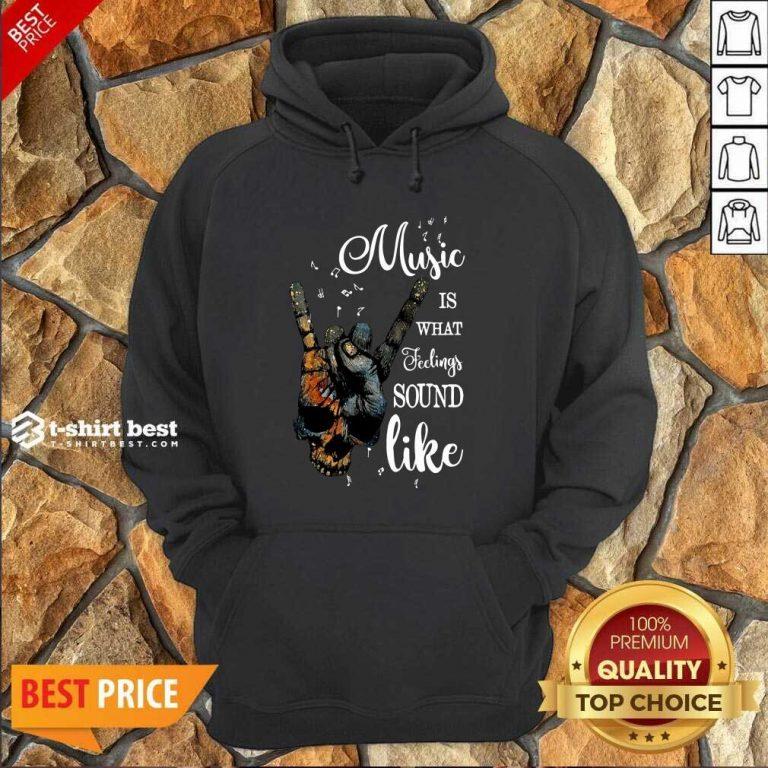 Music Is What Feelings Sound Like Peace Hoodie - Design By 1tees.com
