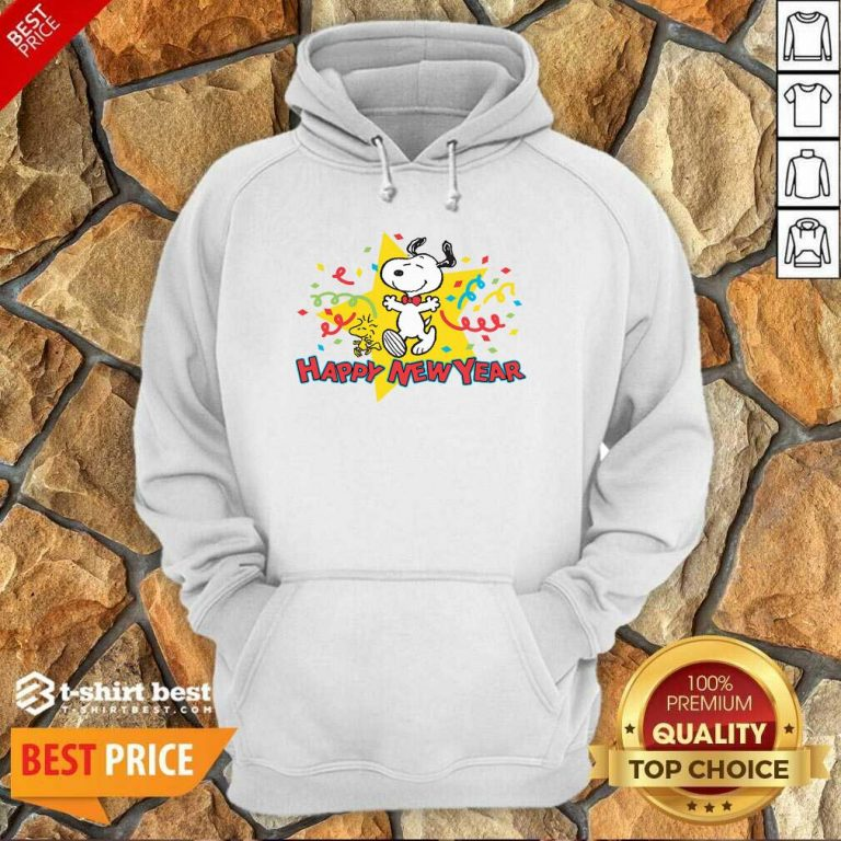 Snoopy Happy New Year Hoodie - Design By 1tees.com