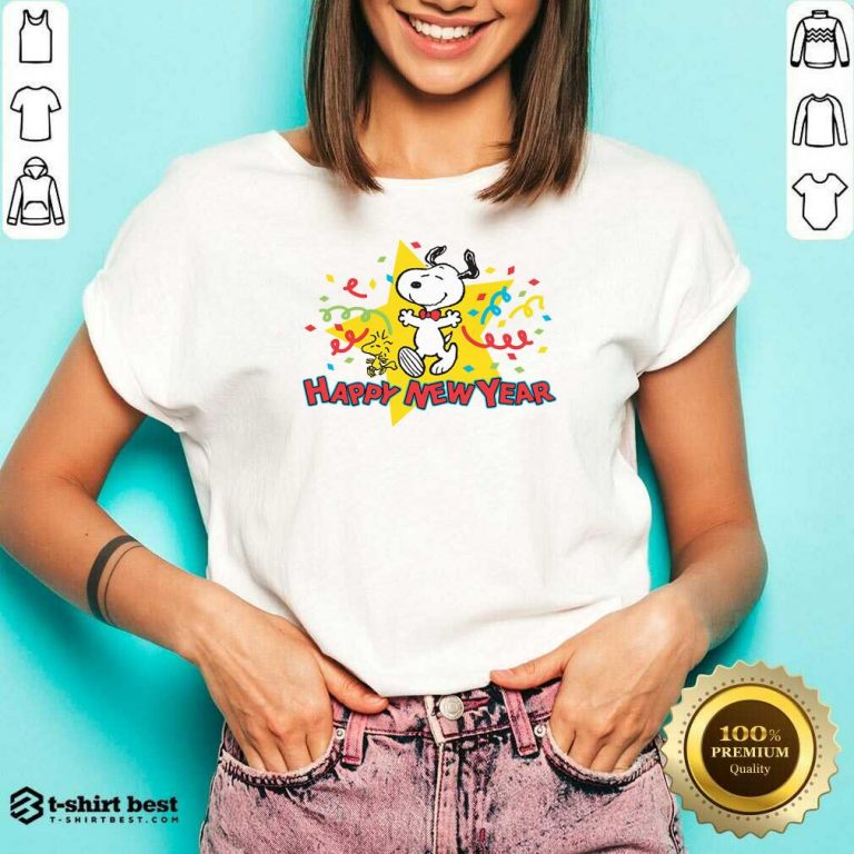 Snoopy Happy New Year V-neck - Design By 1tees.com
