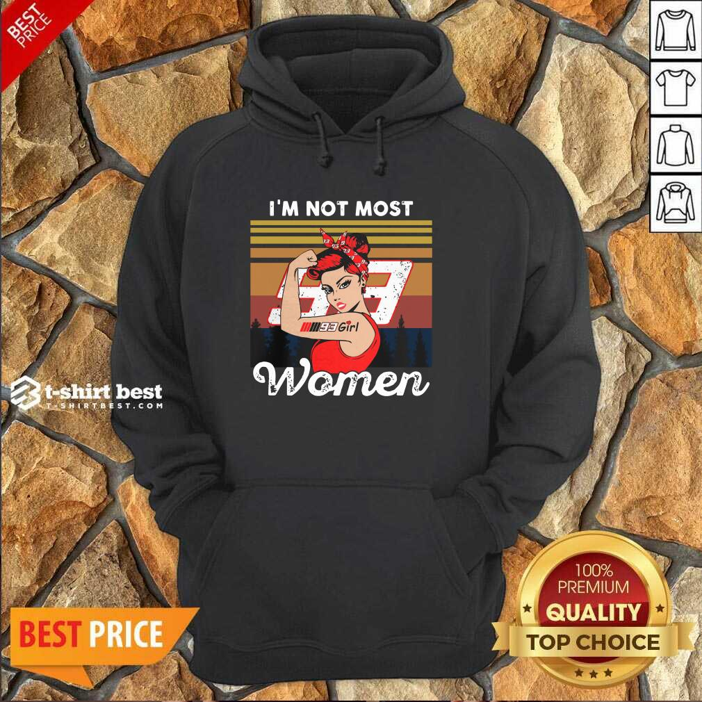 Strong Girl Mm93 Marc Marquez I'm Not Most Women Vintage Retro Hoodie - Design By 1tees.com