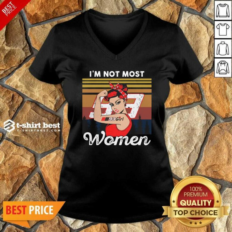 Strong Girl Mm93 Marc Marquez I'm Not Most Women Vintage Retro V-neck - Design By 1tees.com