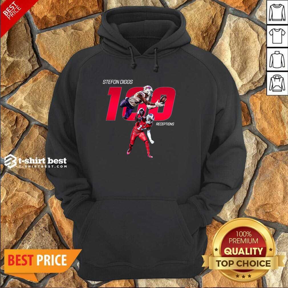 Buffalo Bills Stefon Diggs 100 Receptions Hoodie - Design By 1tees.com