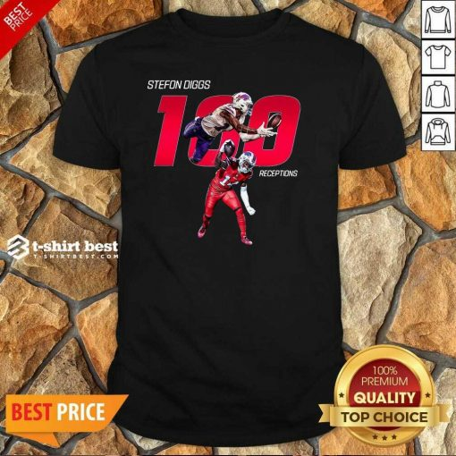 Buffalo Bills Stefon Diggs 100 Receptions Shirt - Design By 1tees.com
