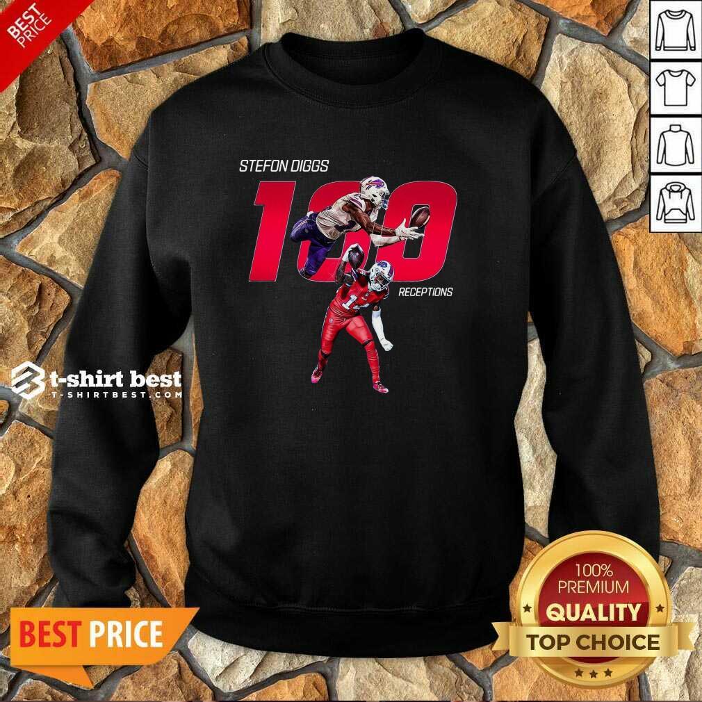 Buffalo Bills Stefon Diggs 100 Receptions Sweatshirt - Design By 1tees.com