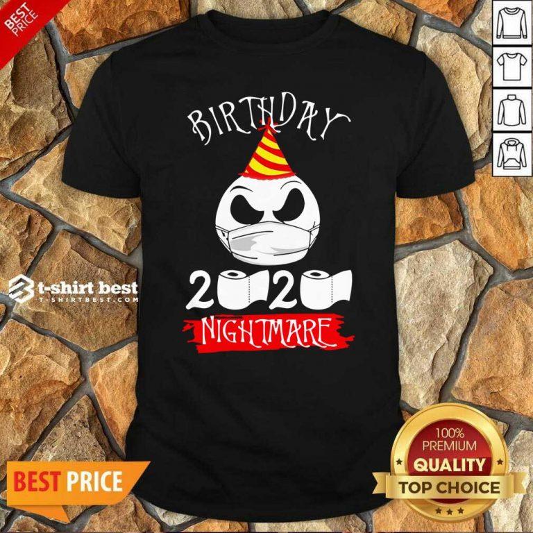 Jack Skellington Face Mask Birthday 2021 Toilet Paper Nightmare Shirt - Design By 1tees.com