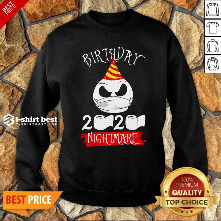 Jack Skellington Face Mask Birthday 2021 Toilet Paper Nightmare Sweatshirt - Design By 1tees.com